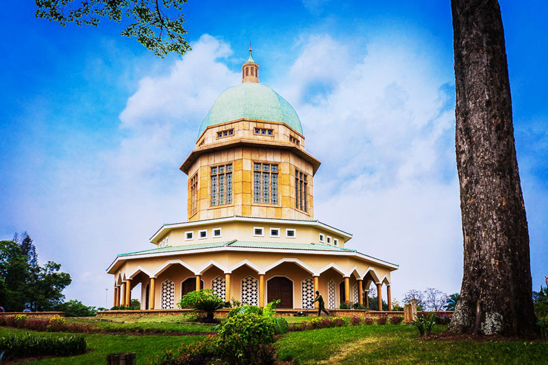 The Bahai temple in Africa
